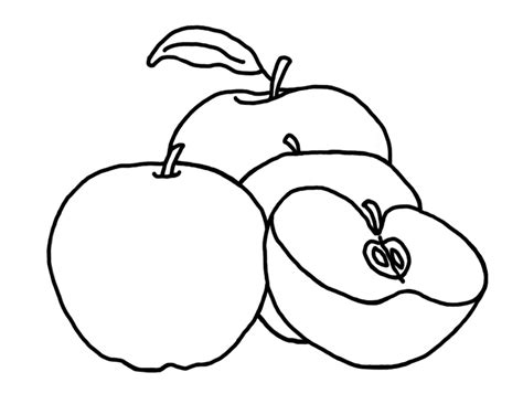 apple coloring pages  preschoolers coloringpages
