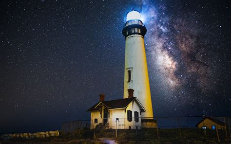 pictures  lighthouses  night  desktop wallpaper