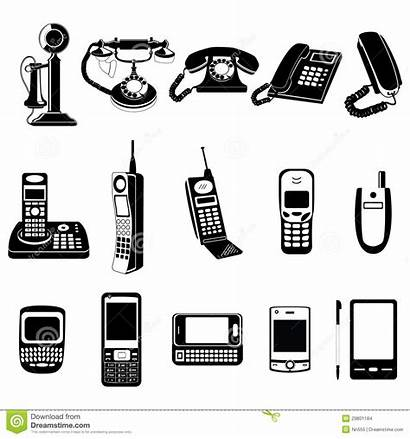 Evolution Phone Illustration Icon Vector Icons Timeline