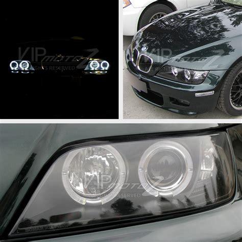 19962002 Bmw Z3 Angel Eye Halo Projector Headlights Black