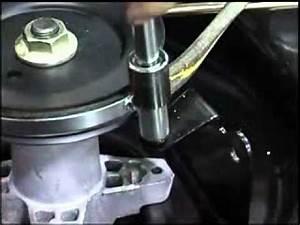 Mtd Lawnflite 400 Series 36 U0026quot  Deck Belt Removal Mp4