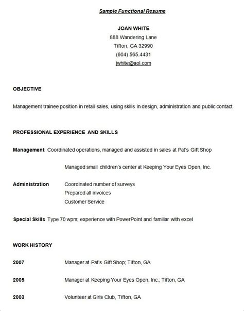 Format Of Functional Resume functional resume template doliquid