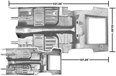 ford mustang  piece floortrunk pan coupefastback