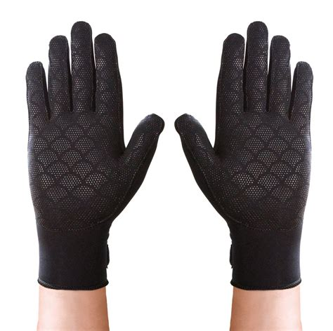 amazoncom thermoskin full finger arthritis gloves black large health personal care