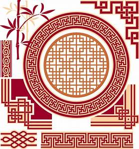 Chinese style floral decorative elements 03 - Vector ...