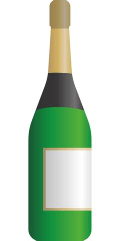 bottle  champagne template  printable papercraft