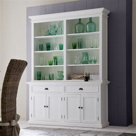 allthorp solid wood display cabinet  white   doors