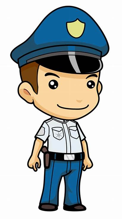Police Cartoon Policeman Clipart Polisi Officer Transparent