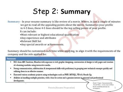 Resume Preparation by Resume Preparation Pictoria Slideshow