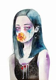 Watercolor Illustration Girl