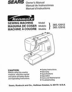 Sears 385 12912 Users Manual