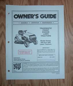 Mtd 600 Thru 699 Series Lawn Tractor Owners Manual 2