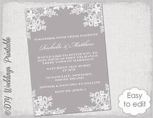 wedding invitation template diy quotfloral lacequot wedding With edit photo wedding invitations