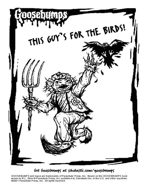 goosebumps coloring pages scholastic goosebumps scarecrow coloring page