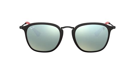 Ray ban rb3016 clubmaster w0365 sunglasses black frame 51mm. RB2448NM 51 FERRARI: Shop Ray-Ban Black Square Sunglasses at LensCrafters