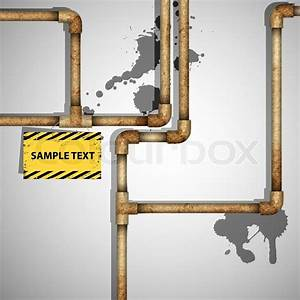 Industrial Background With Rusty Pipes Vector Eps10