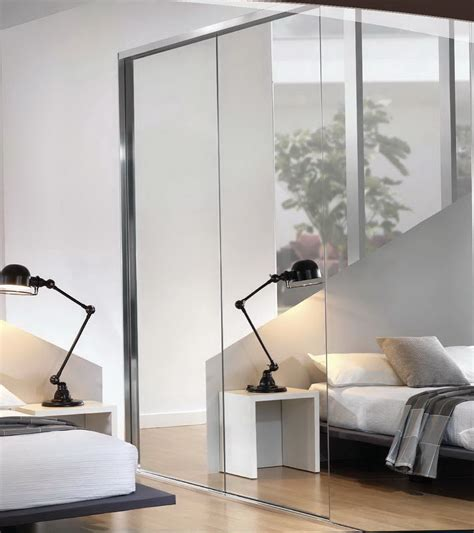 Frameless Mirror Bifold Closet Doors  Home Design Ideas