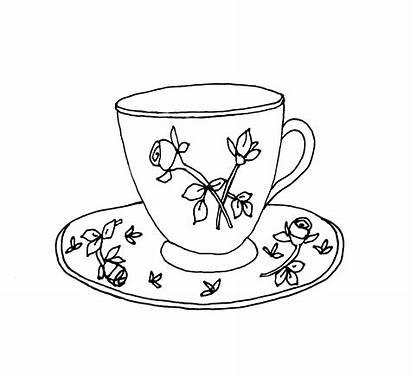 Tea Cup Drawing Teacup Coffee Sketch Alice
