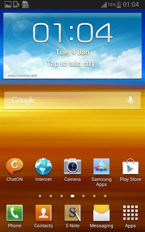 android version 4 1 2 galaxy note n7000 jelly bean 4 1 2 jzo54k