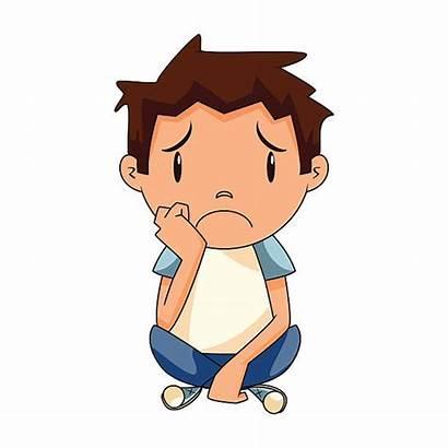 Sad Boy Kid Cartoon Clipart Child Lonely
