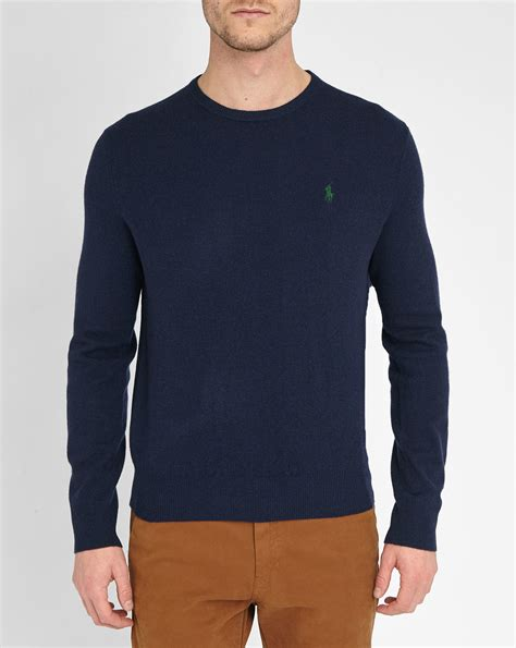 ralph polo sweaters polo ralph navy pr merino wool sweater in blue for