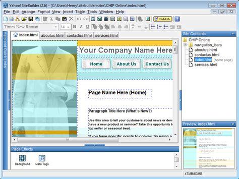 Yahoo Sitebuilder Download