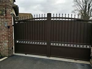 15 epingles portail aluminium coulissant incontournables With awesome photos terrasses et jardins 5 portail alu decoupe laser