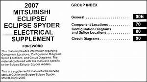 2007 Mitsubishi Eclipse  U0026 Spyder Wiring Diagram Manual