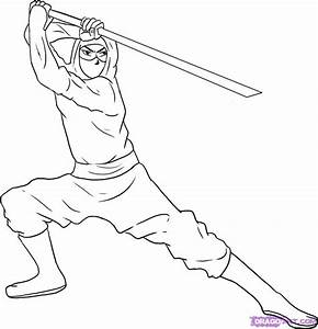 How to Draw a Ninja, Step by Step, Figures, People, FREE ...