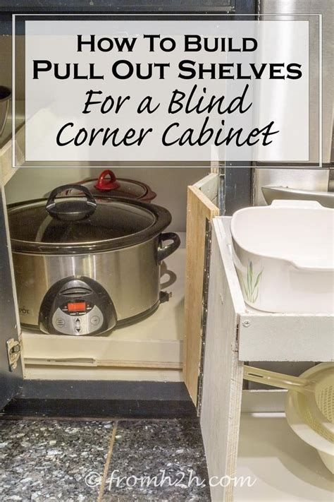 blind corner cabinet pull out how to build pull out shelves for a blind corner cabinet