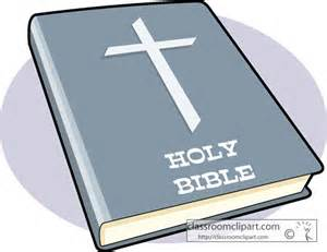 Holy Bible with Praying Hands Clip Art