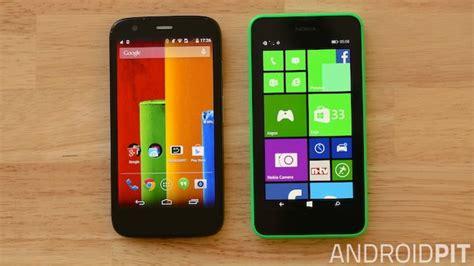 moto g vs nokia lumia 630 android o windows phone androidpit