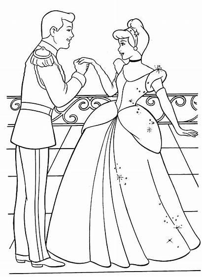 Cinderella Disney Coloring Pages Princess Printable Getcoloringpages