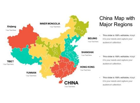 china map  major regions powerpoint