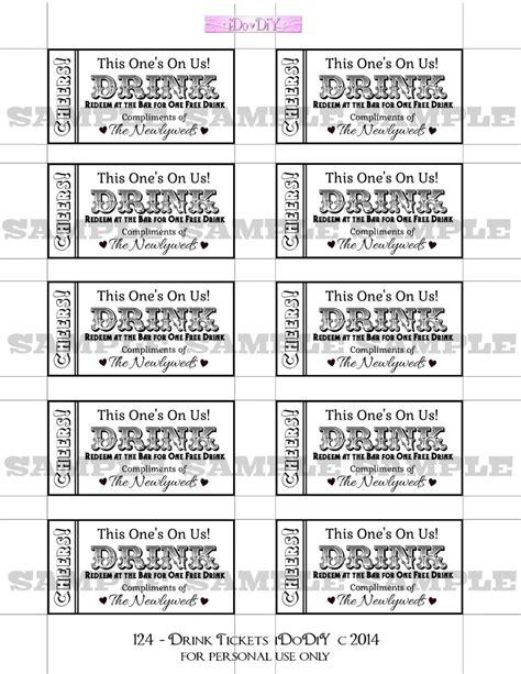 drink ticket template drink tickets diy wedding printable instant digital
