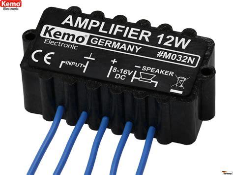 12watt Verstärker Mono Modul 6v  16v M032n Kemo Lüdeke
