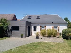 extension bois cube pour maison bois revelles With beautiful maison toit plat bois 0 extension maison agrandissement ossature bois