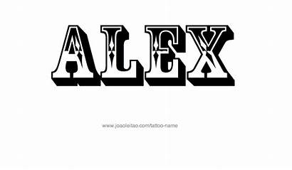 Alex Tattoo Designs Male