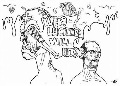 Coloring Pages Walking Dead Tv Adult Star