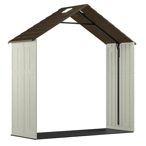 suncast shed shelf kit shop suncast 8 ft x 3 ft resin storage shed expansion kit