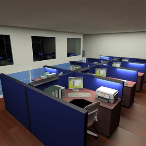 Office Space Knocking Cubicle by Office Space Cubicles 3d Model