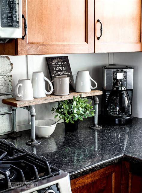 diy kitchen design ideas 26 best diy coffee mug holder ideas and projects for 2018 6840