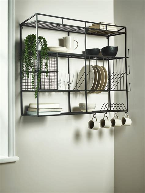 industrial style iron wall unit kitchen wall storage wall unit kitchen design