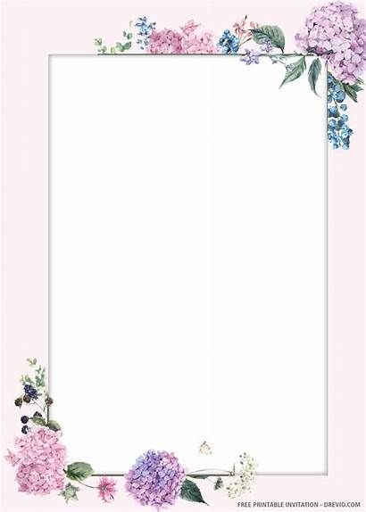 Invitation Floral Templates Printable Motives Drevio Wordings