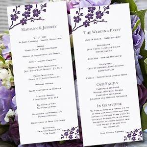 17 best images about programs on pinterest receptions for Avery wedding program templates