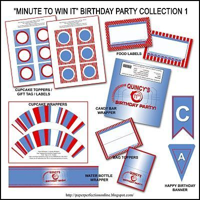 """We'll do all the design work for you to make your experience hassle free. Free """"Minute to Win It"""" Birthday Party Invitation ..."""