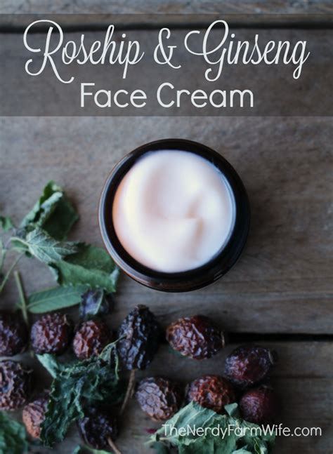 Rosehip And Ginseng Face Cream Recipe The Nerdy Farm Wife