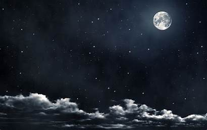 Moon Clouds Night Stars Cloud Sky Background