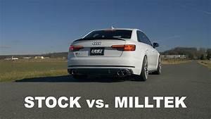 Audi S4 B9 : audi b9 s4 milltek catback exhaust sound vs stock youtube ~ Jslefanu.com Haus und Dekorationen