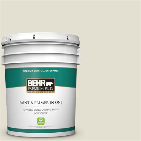 behr premium plus 5 gal 400e 2 turtle dove gloss enamel low odor interior paint and